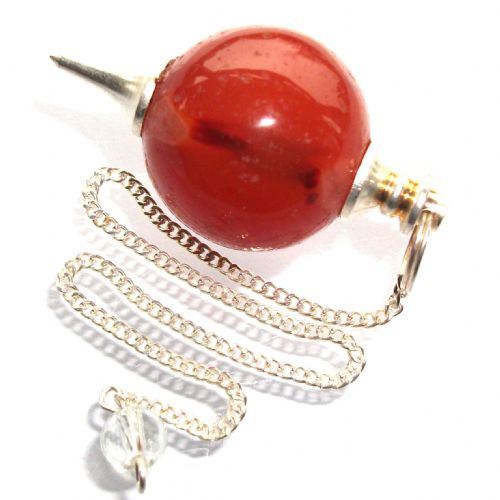 Carnelian Ball Pendulum Crystal Dowser
